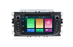 Штатная магнитола Carmedia MKD-F746B-P30-8 для Ford Focus II, Mondeo, S-MAX, Galaxy, Tourneo/Transit Connect черный на Android